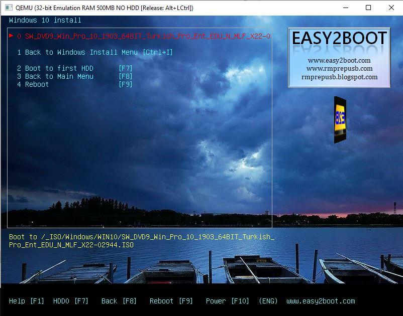 Easy 2 Boot ile Önyüklemeli USB Hazırlama 18