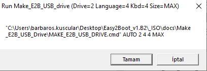 Easy 2 Boot ile Önyüklemeli USB Hazırlama 7