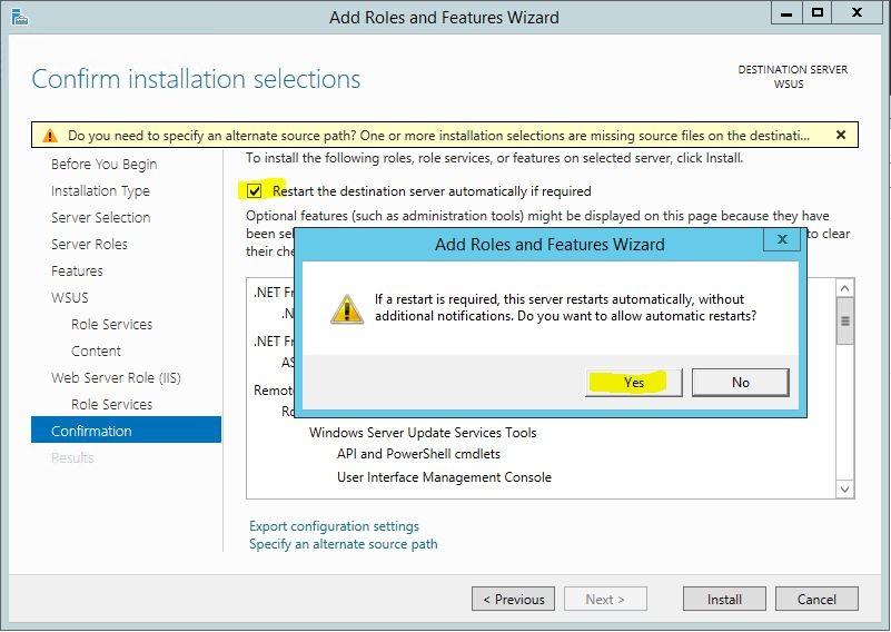 Windows Server 2012 R2 WSUS Kurulumu 14