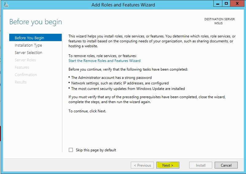 Windows Server 2012 R2 WSUS Kurulumu 2