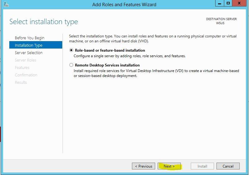 Windows Server 2012 R2 WSUS Kurulumu 3