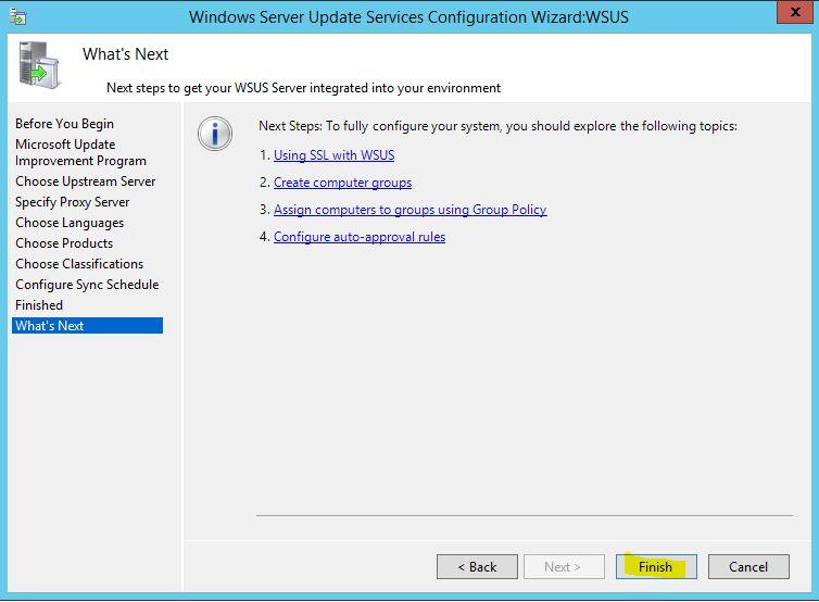 Windows Server 2012 R2 WSUS Kurulumu 34