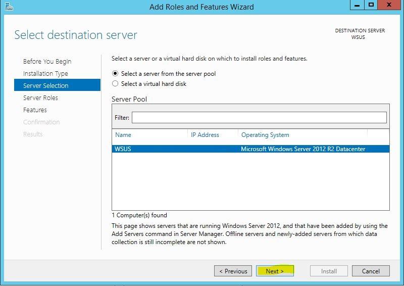 Windows Server 2012 R2 WSUS Kurulumu 4