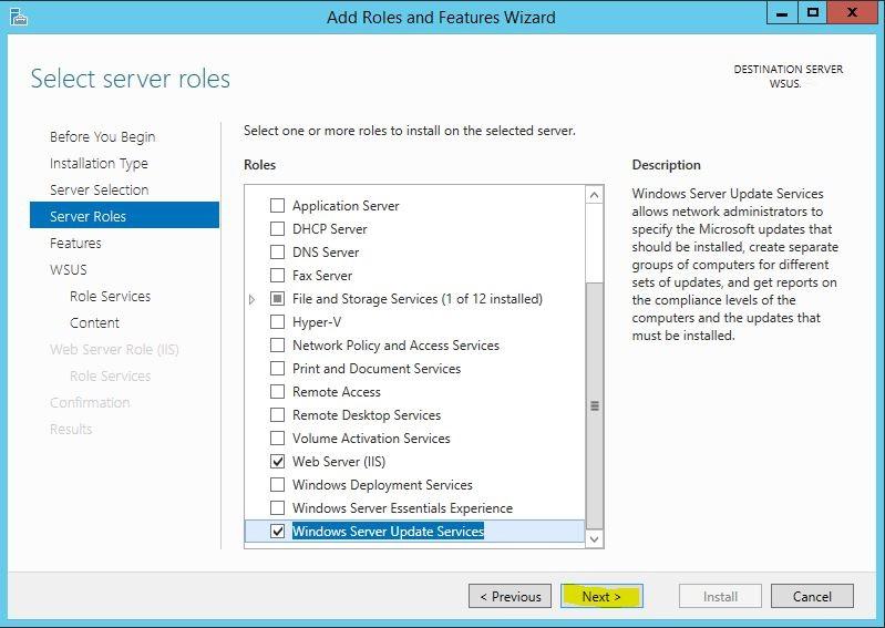 Windows Server 2012 R2 WSUS Kurulumu 6