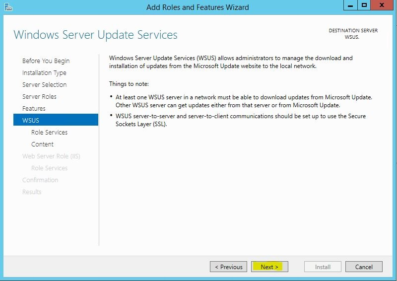 Windows Server 2012 R2 WSUS Kurulumu 8