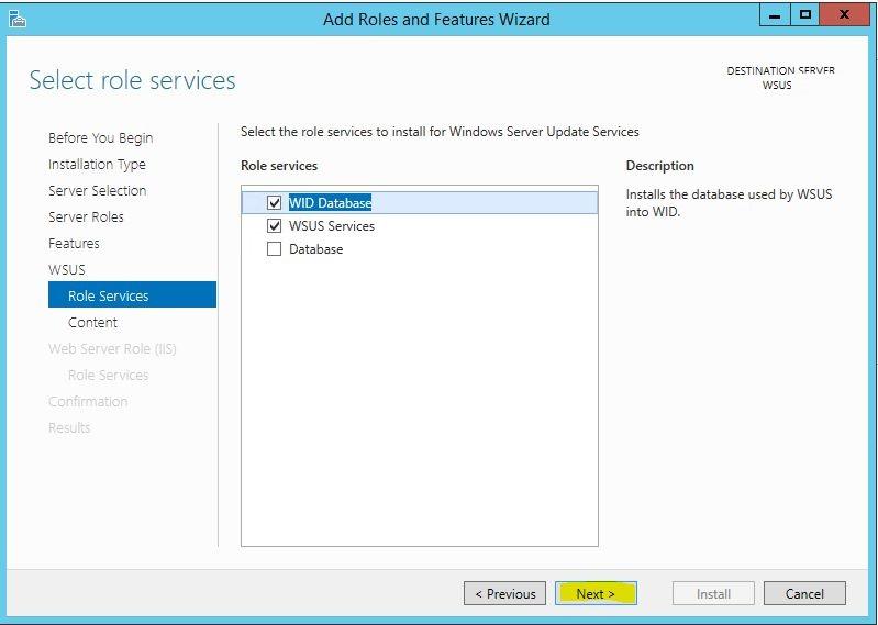 Windows Server 2012 R2 WSUS Kurulumu 9