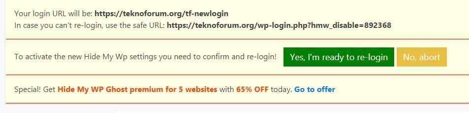Wordpress wp-admin Adresini Değiştirmek 10