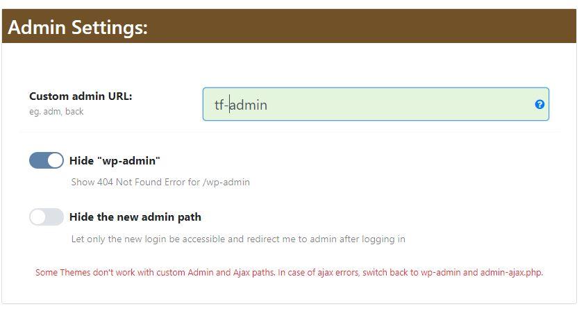 Wordpress wp-admin Adresini Değiştirmek 4