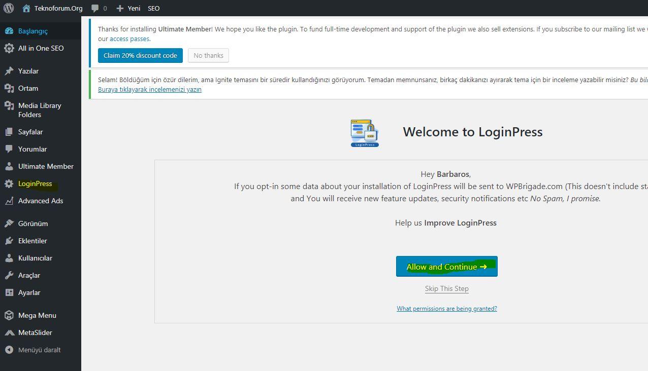 Wordpress Custom Login Page Customizer - Loginpress Eklentisi 3