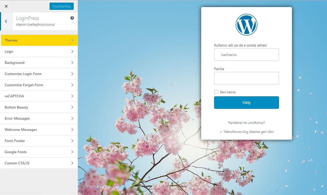 Wordpress Custom Login Page Customizer - Loginpress Eklentisi 5
