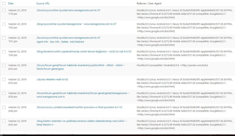 Wordpress Geçişi Sonrasında Google Indexlerini Kaybetmemek 7