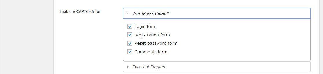 Wordpress Google Captcha Eklentisi 7