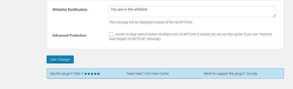 Wordpress Google Captcha Eklentisi 8