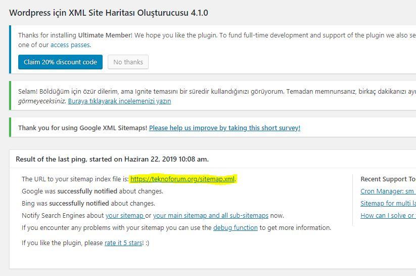 Wordpress Sitemap Oluşturma 3