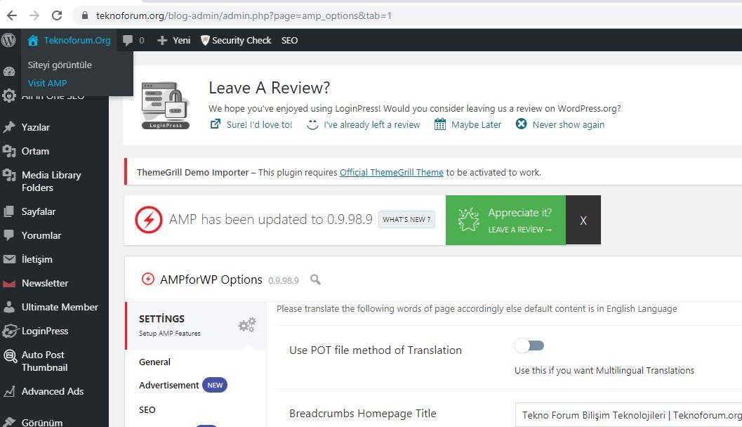 Wordpress İçin AMP Hızlandırılmış Mobil Sayfalar Hazırlama