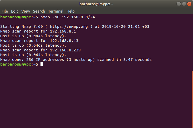 Ubuntu 18.04 Network Scanner