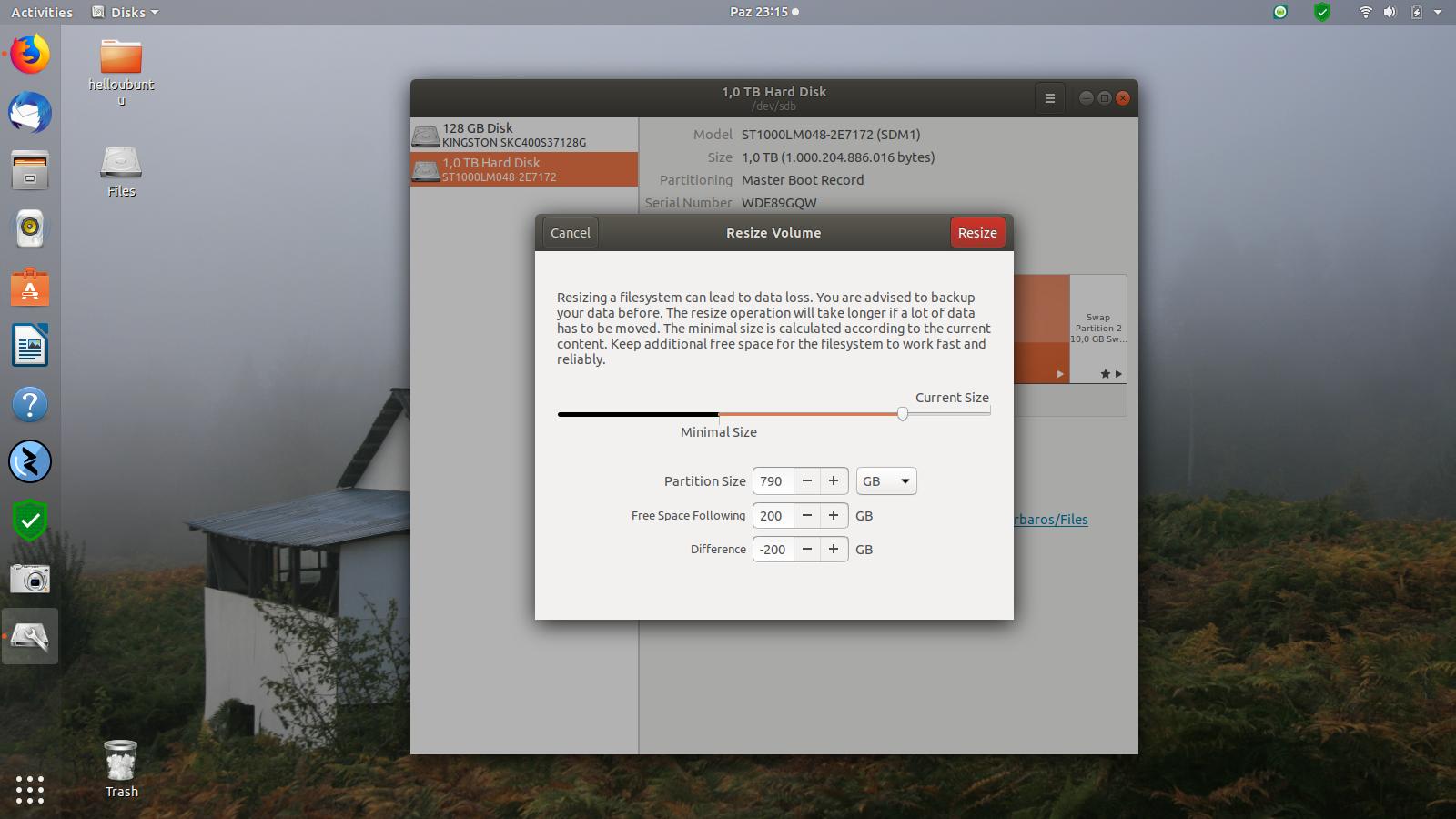 Ubuntu 18.04 Disk Yönetimi