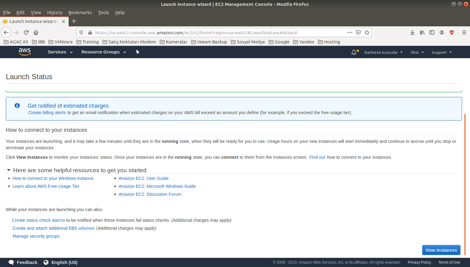 Amazon Web Service Server 2019 Kurulumu