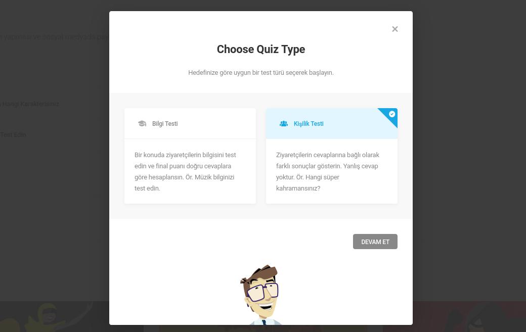 WordPress Forminator ile Kişilik Testi Oluşturun