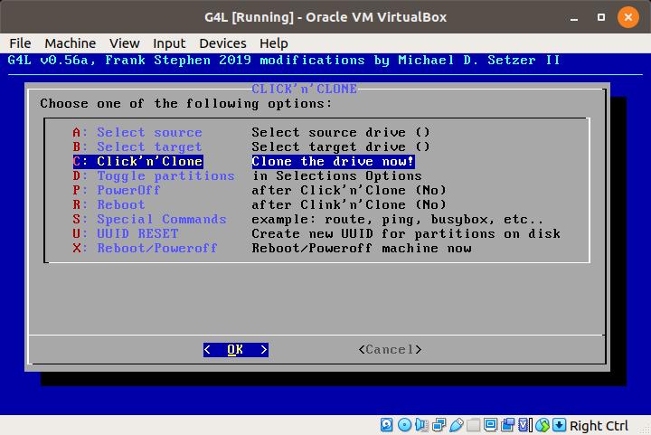 G4L – Ghost 4 Linux – Disk Klonlama