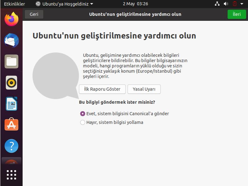 Ubuntu 20.04 LTS Kurulumu