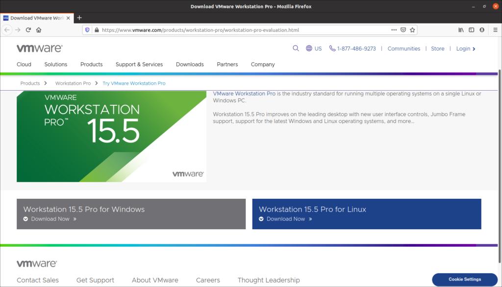 Ubuntu 20.04 VMware Workstation 15.5 Pro Kurulumu