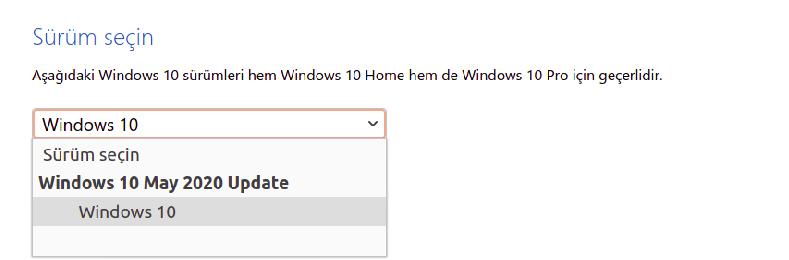 Windows 10 İndirme - Sürüm 2004 Türkçe 32-bit / 64-bit İndir