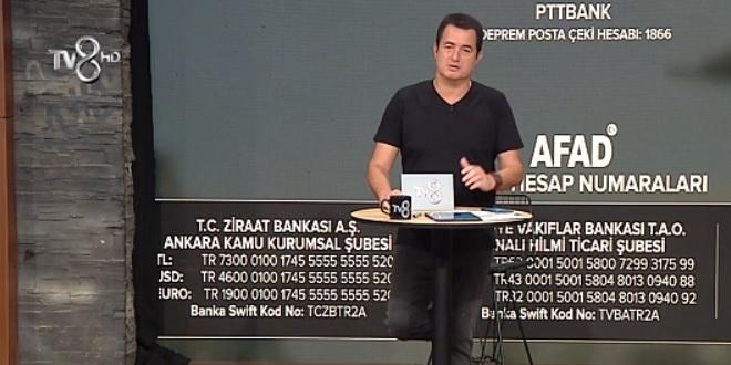 Acun Ilıcalı Elazığ Depremi Kampanyası
