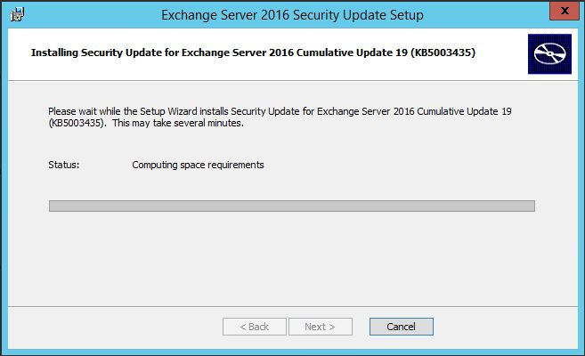 KB5003435 security update for microsoft exchange