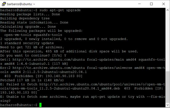 ubuntu yazilim paketlerini güncelleme