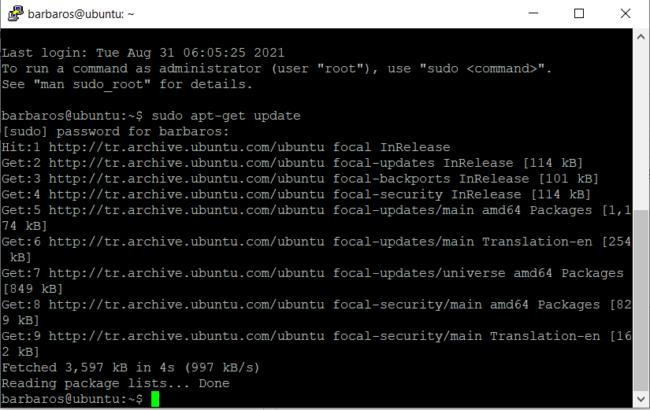 Ubuntu yazılım paketlerini güncelleme