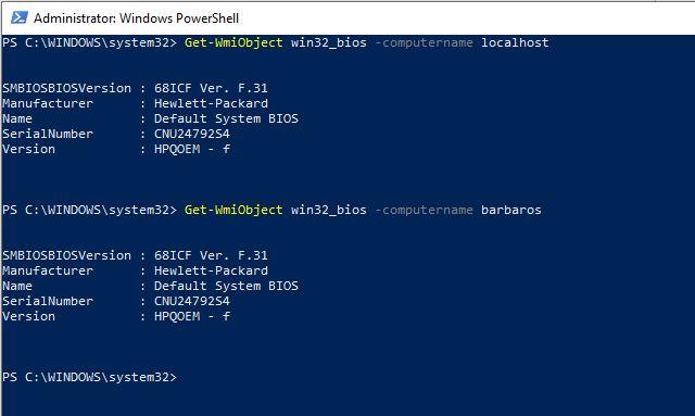 BIOS Sürümünü Öğrenmek - PowerShell