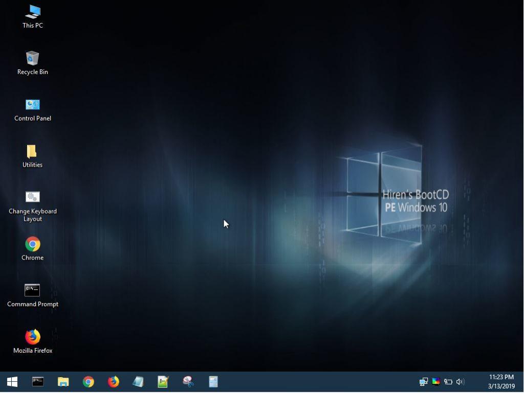Hirens Boot CD PE - Windows 10