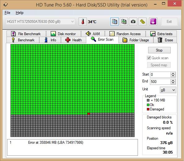 Hp smart hard disk 1 (301) hatası