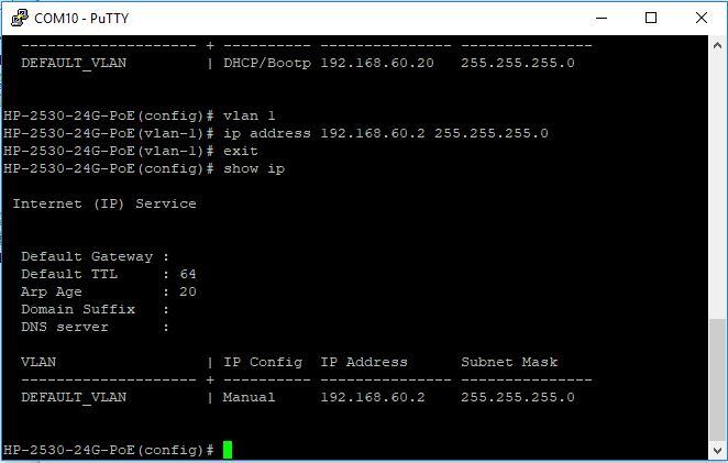 HP Switch IP Verme