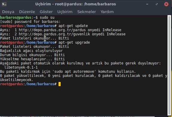 Linux Güncelleme Komutları ve Pardus Linux Güncelleme