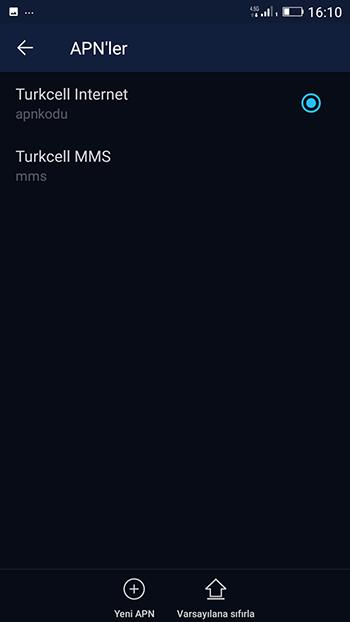 Turkcell APN Ayarı Nasıl Yapılır