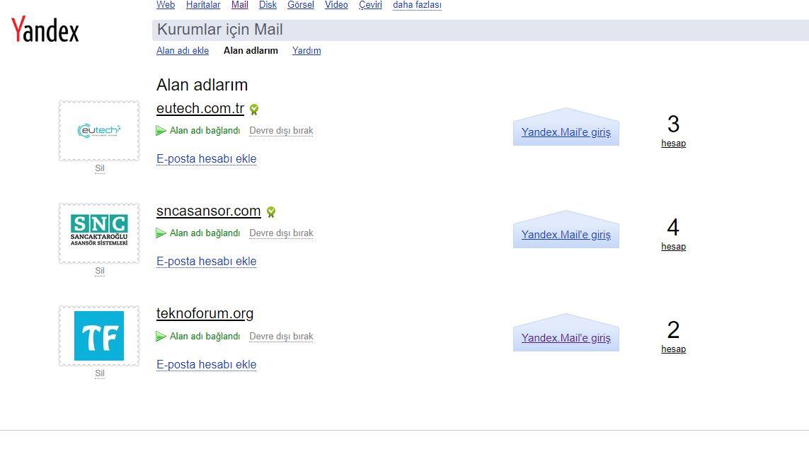Yandex Kurumsal Mail Kurulumu - Plesk Panel